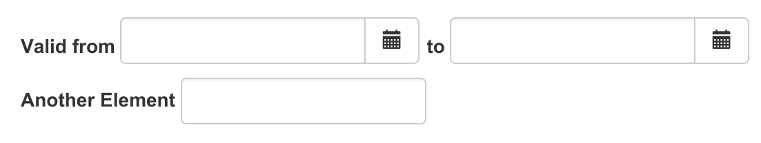 Aligning form elements in one line using bootstrap's grid ...